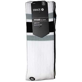 Stance Boyd 4 Pipebomb Crew Socks in White