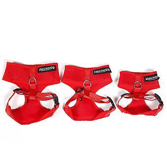 DIGIFLEX Neoprene maglia pettorina regolabile - Anti tirando aiuto per camminare e formazione – Small - rosso