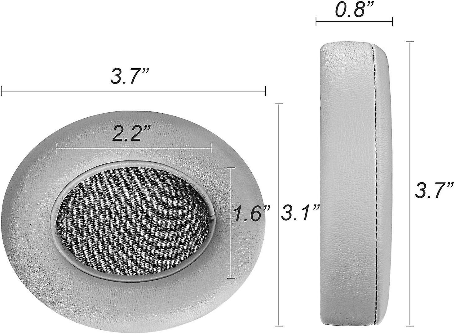 REYTID Replacement Grey Ear Pad Cushion Kit Compatible with Beats By Dr. Dre Studio 2.0 & Studio 2.0 Wireless Headphones