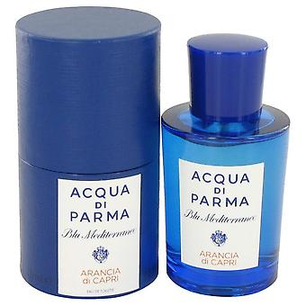 Blu mediterraneo arancia di capri eau de toilette spray par acqua di parma 497205 75 ml