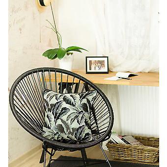 "17 ""x 17"" gri Jacquard tropical Leaf decorative arunca perna Cover"