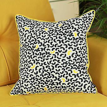 "18""x18"" Memphis Printed Decorative Throw Pillow Cover Pillowcase"