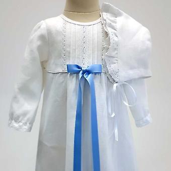 Dopklänning Grace Of Sweden, Ljusblå Rosett Och Dophätta  Tr.v.l