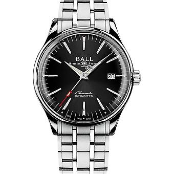 Ball NM3280D-S1CJ-BK Trainmaster Manufacture 80 Hours Wristwatch Black