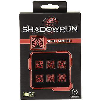 Q-workshop Shadowrun Street Samurai 6D6 dobbelstenen set