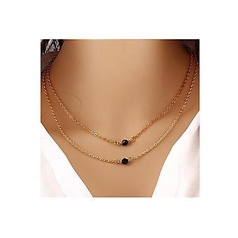 Double Layered Choker Necklace - Or
