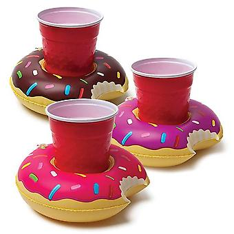 Bigmouth pool party beverage boats (donuts)