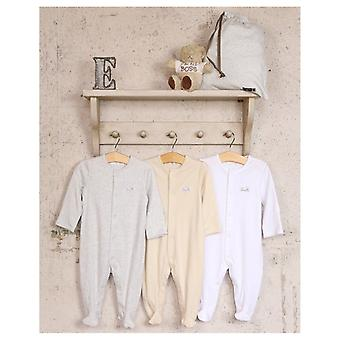 The Essential One Unisex 3 Pack Neutral Sleepsuits