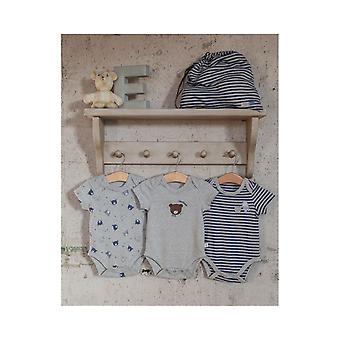 The Essential One Baby Boys Handsome Bear Bodysuits - 3 Pack