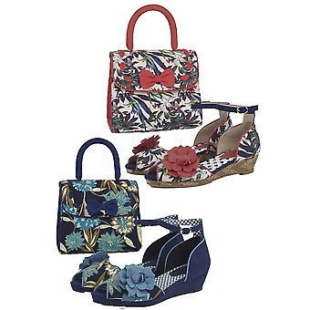Ruby shoo kvinder ' s Phyllis Low hæle sommer kile & matchende Santiago taske