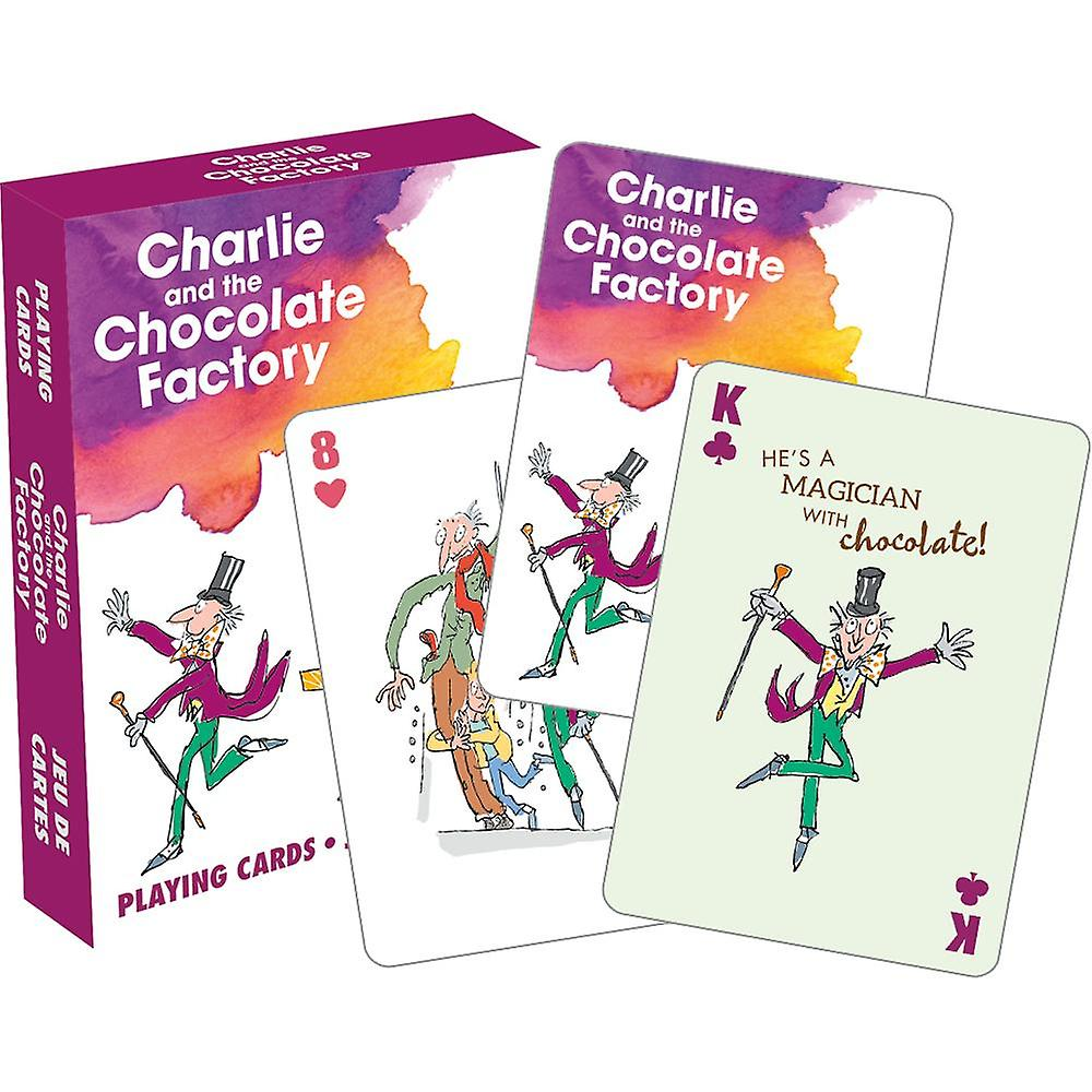 Roald dahl - charlie playing cards