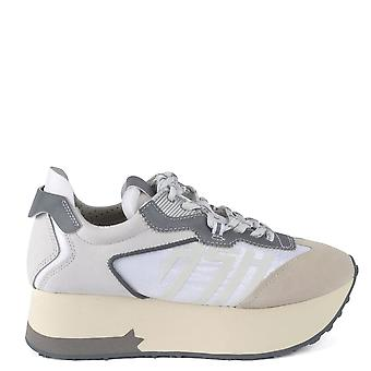 Ash Footwear Roxy Grey And White Platform Trainer