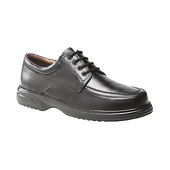 Roamers Black Leather Mudguard Tie Leather Qtr Lining & Sock Fulfit Lightweight Pu Sole