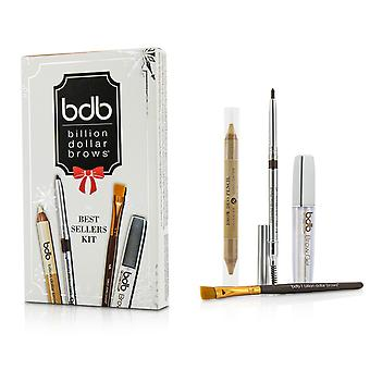 Best Sellers Kit: 1x Universal Brow Blyant 0.27g/0.009oz, 1x Brow Duo Blyant 2.98g/0.1oz, 1x flekk børste, 1x Brow Gel 3ml/0.1oz 4pcs