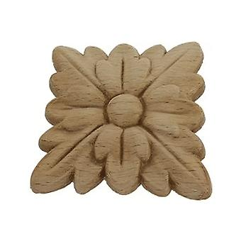 Decorative wooden rosette pattera square 49mm x 49mm