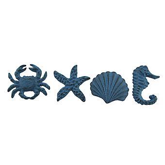 Rannikko meren elämää 4 kappaletta valu rauta laatikon Vedä tai kaapin nuppi setti