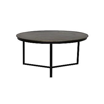 Lichte en levende salontafel 85x40cm Retiro Raw Antique Bronze-Matted Black