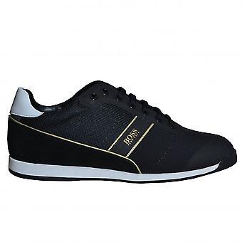 Hugo Boss Footwear Hugo Boss Men's Black Glaze Lowp Mewt Trainers