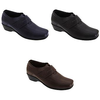 Mod Comfys Womens/Ladies Touch Fastening Softie Leather Casual Shoes