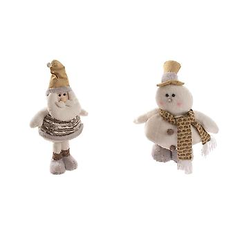 Christmas Shop Fat Santa/Snowman Plush Decoration