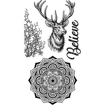 Stamperia Natural Rubber Stamp Cosmos Deer