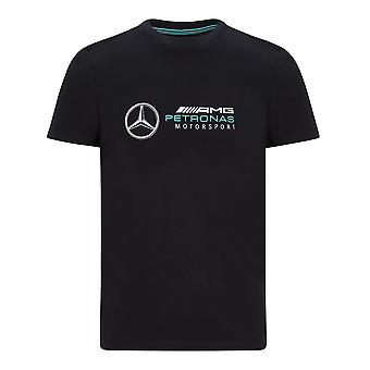 Mercedes AMG Petronas Men's Large Logo T-shirt | Black | 2020