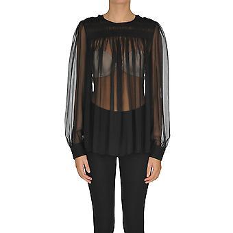 N°21 Ezgl068168 Women's Black Silk Blouse