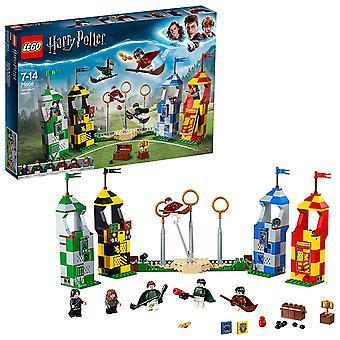 LEGO 75956 Harry Potter Quidditch Match gebouw instellen