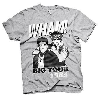 Men's Wham! Big Tour 1984 Grey Crew Neck T-Shirt