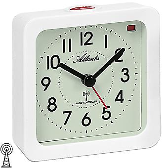 Atlanta white square with light snooze 1854/0 alarm clock radio alarm clock