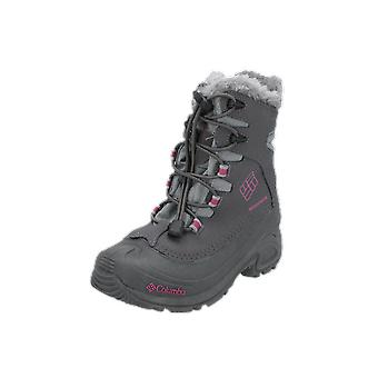 Columbia BUGABOOT PLUS III OMNI-HEAT GT Kids Boots Grey Lace-Up Boots