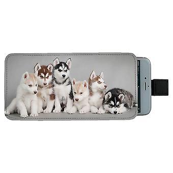 Siberian Husky Puppies Universal Mobile Bag