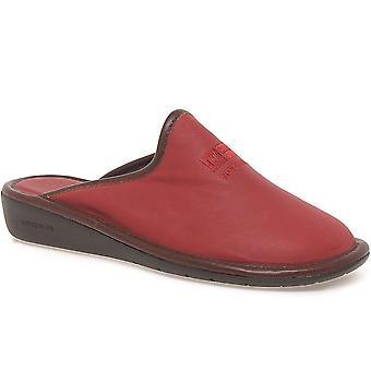 Nordikas Naomi II Red Leather Ladies Slippers