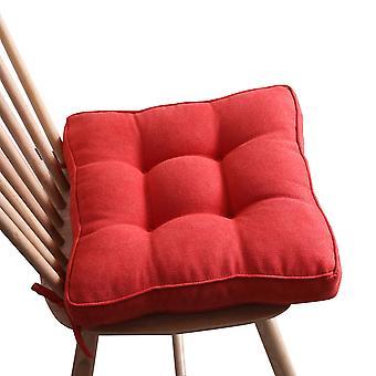 Stuhlkissen quadratisch verdickt Stuhlpolster Sitzkissen mit Strings Polyesterfaser