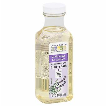 Aura cacia aromatherapy bubble bath, relaxing lavender, 13 oz