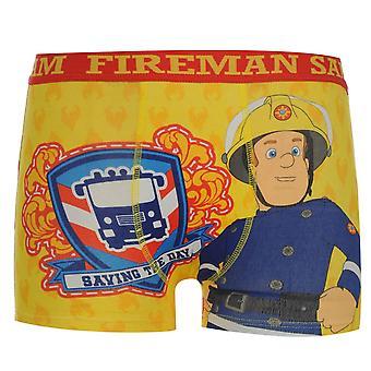 Χαρακτήρας παιδιά αγόρια πυροσβέστης Σαμ ενιαία μπόξερ σορτς εκτυπωμένο εσώρουχα βρέφος