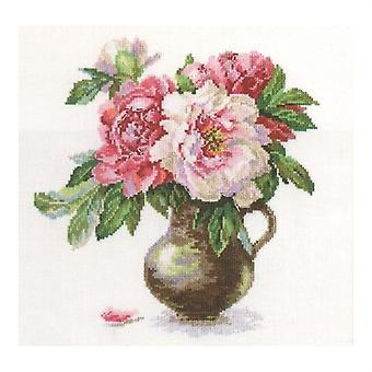 Alisa Cross Stitch Kit - Blooming Garden Peonies