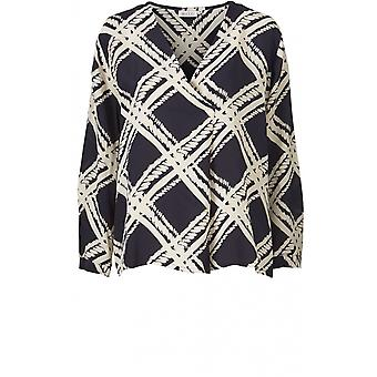 Masai Clothing Berla Navy Patterned Top
