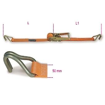 Beta 081820305 Ratchet Tie Down /w Hook Lc 2000kg Belt 50mmx10.5m