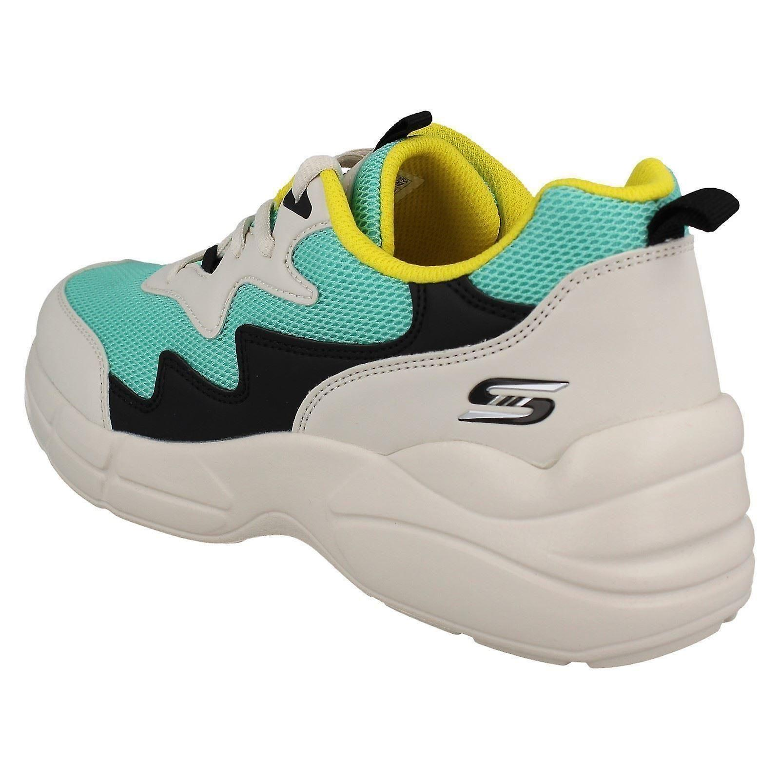 Ladies Skechers Lace Up Memory Foam Casual Trainers Popsicle 33122