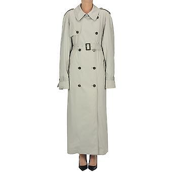 Maison Margiela Ezgl038117 Women's Grey Cotton Trench Coat