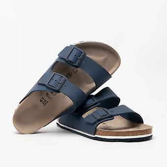 Birkenstock Arizona 1015508 (reg) Mens Birko-flor Two Strap Sandals Blue