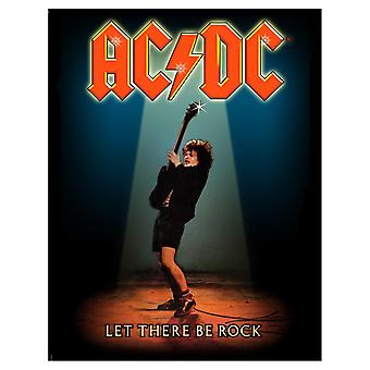 AC/DC  Back Patch Let There Be Rock Band Logo Official New  Woven (36cm x 29cm)
