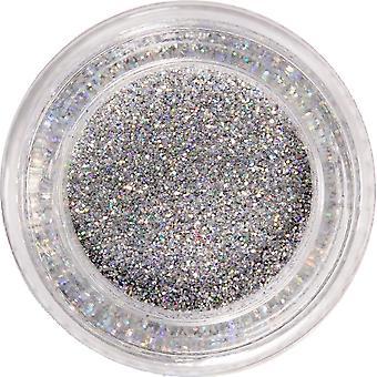 MoYou London Nail Art Glitter Pots - Silver Rainbow Glitter 15ml (690744)
