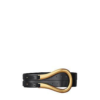 Bottega Veneta 577041vmau18648 Women's Black Leather Belt