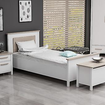 Weiße Farbe Mondbett, Melaminische Hackschnitzel Holz 102x202x92 cm