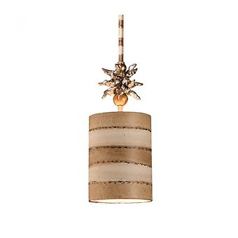 Anemone, Taupe And Gold Pendant Light, 1 Bulb