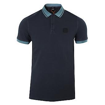 Hugo boss men's navy prim polo shirt
