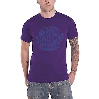 The Rolling Stones T Shirt Vintage 70s Band Logo novo Official Mens Purple
