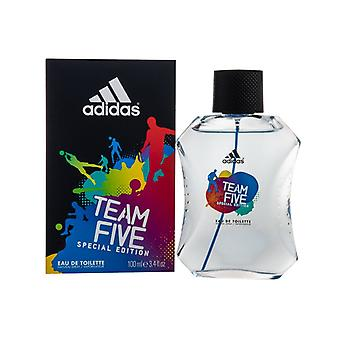 Adidas Team Five Eau de Toilette 100ml Spray For Him